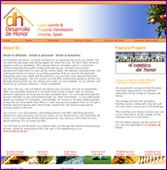 almeria-homes web site screen shot